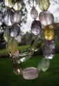 Prehnit a další kameny - náhrdelník z facetovaných nugetek