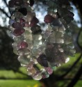 Fluorit zelený - náhrdelník dlouhý