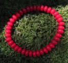 Korál červený - náramek 8