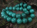 Malachit - náhrdelník krátký z kuliček 10