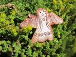 Anděl keramický přírodní