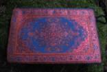 Váček na kameny růžový se tkanými ornamenty
