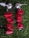 Korál červený - náušnice s puzetovým úchytem