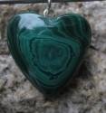 Malachit - přívěsek srdce 2,2