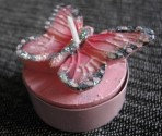 Svíčka - motýl růžový