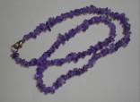Ametyst - náhrdelník krátký