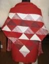 Pletený patchworkový šátek