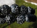Achát černý - náhrdelník z facetovaných kuliček