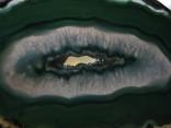 Achát - náhrdelník se zeleným plátkem