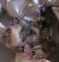 Fluorit duhový - náhrdelník krátký