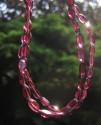 Granát almandin - náhrdelník z broušených oválků