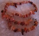 Kalcit medový - náhrdelník krátký