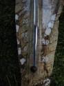 Mramor - nástěnný teploměr