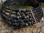 Onyx - obojek pětiřadý s náramkem