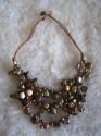 Perly zlatohnědé - náhrdelník krátký čtyřřadý