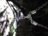 Šňůrka koženková - tmavě hnědá