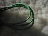 Šňůrka látková - zelená