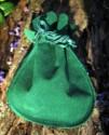 Váček na kameny zelený